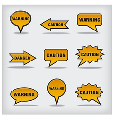 caution vector image vector image