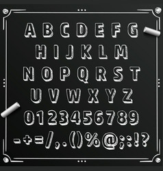 chalkboard sketch font abc sign set letter vector image vector image