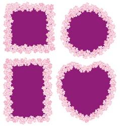 flower frame four vector image