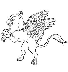 Flying Griffin vector image vector image