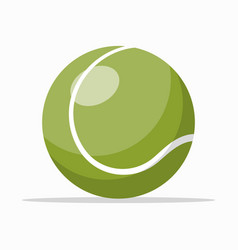 green colored tennis ball vector image