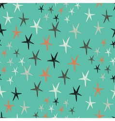 seamless pattern with stars Starry retro vector image vector image
