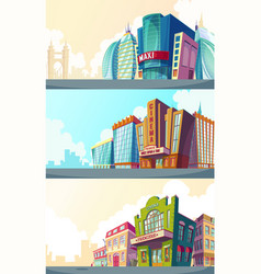 set cartoon of an urban vector image