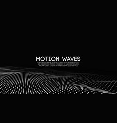 3d glowing abstract digital wave particles vector image