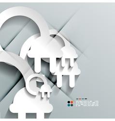 3d paper plug modern design vector image