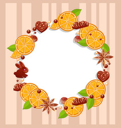 a delicious frame of chocolate sweets vector image