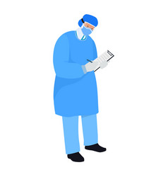 A nurse wearing personal protective equipment for vector