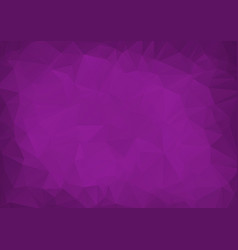 abstract dark purple low poly crystal background vector image