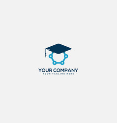 Academy and experience science logo vector