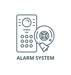 alarm system line icon alarm system vector image