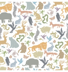 Animals background seamless vector