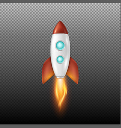 Background with retro space rocket ship vector