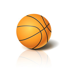 basketball ball 3d imitation for your business vector image