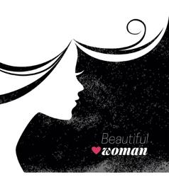 Beautiful woman silhouette vector