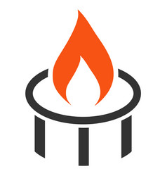 burner nozzle flame flat icon vector image