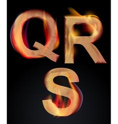 Burning letters qr vector