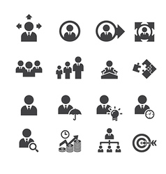 business and management icon vector image