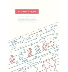 Business Team - line design brochure poster vector image
