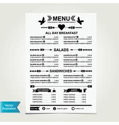 Cafe menu template design vector