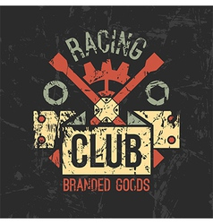 Car racing club emblem vector