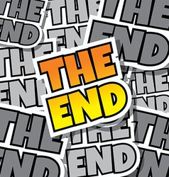 cartoon comic text the end vector image