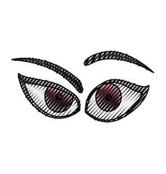 Cartoon eyes expression vector