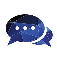 Chat icon Abstract Triangle vector