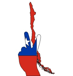 Chile hand signal vector image