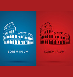 colosseum building vector image