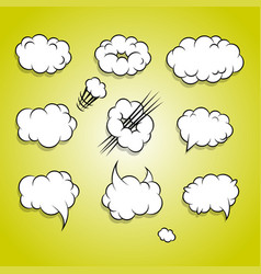 comic book cartoon cloud balloon set vector image