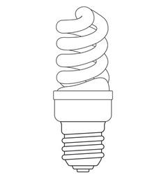 Contour energy saving lamp vector
