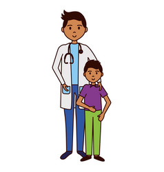 doctor and patient boy vector image