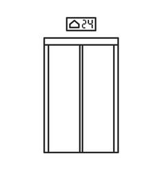 Elevator door iconline icon vector