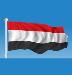 Flag of yemen vector