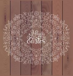floral easter frame vector image