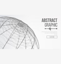 futuristic earth globe abstract technology vector image vector image