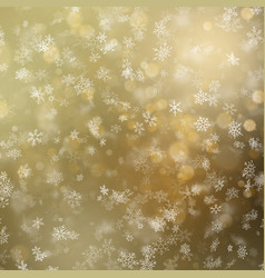 glowing christmas snowflakes winter background vector image