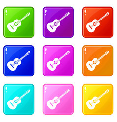 guitar set 9 vector image