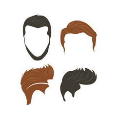 hairstyle icon design template isolated vector image