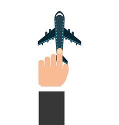 hand user vector image