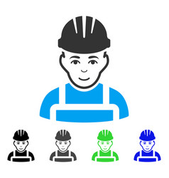 happy mechanic flat icon vector image