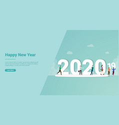happy new year 2020 change from 2019 for website vector image