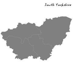high quality map metropolitan county england vector image