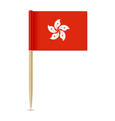 Hong kong flag flag toothpick 10eps vector