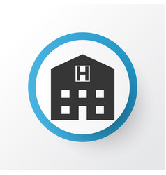 Hospital icon symbol premium quality isolated vector
