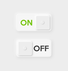 Icon on and off toggle switch button white design vector
