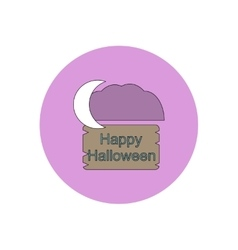 In flat design happy halloween vector