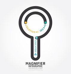 infographics magnifier design diagram line vector image