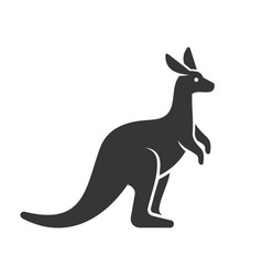 Kangaroo icon logo on white background vector