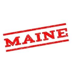 Maine Watermark Stamp vector
